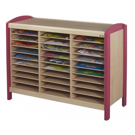 meuble rangement dessins 30 casiers millenium collectivites. Black Bedroom Furniture Sets. Home Design Ideas