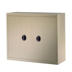 Armoire métallique portes pliantes mobilier de rangement