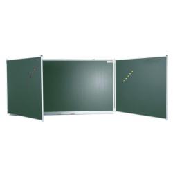 Tableau triptyque 1,20 m x 2 m émaillé vert