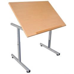 Table pour personne à mobilité réduite plateau incliné