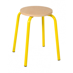Tabouret assise ronde ht 45 cm