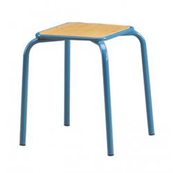 Tabouret assise carrée encastrée ht 45 cm