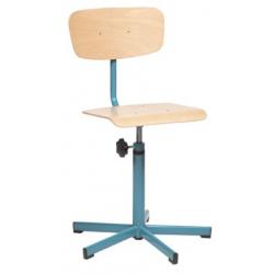 Chaise informatique sur patins réglable en hauteur