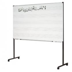 Tableau simple à portée musicale 1,20 m x 2 m **sans piètement**