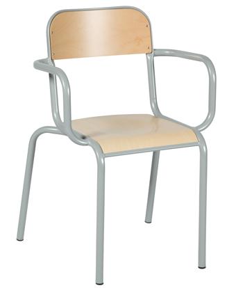fauteuil de professeur avec accoudoir tube millenium collectivites. Black Bedroom Furniture Sets. Home Design Ideas