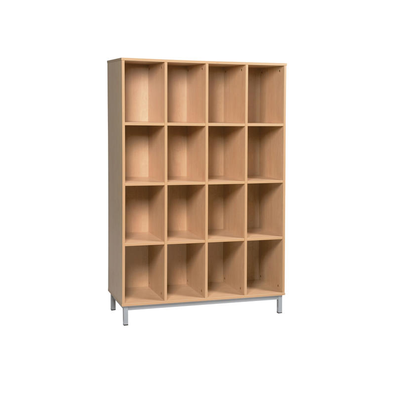 Meuble l ves 12 cases sans porte sur socle m tallique for Meuble 12 cases