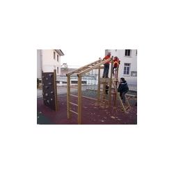 Structure de jeux en bois Pago Pago avec échelle 4 m x 2,60 m