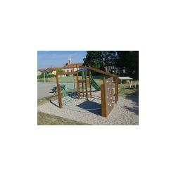 Structure de jeux en bois Pago Pago avec glissière 5,65 m x 2,50 m