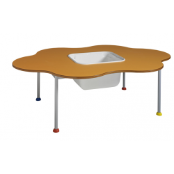 Table Flic-Flac avec bac à jouets et couvercle