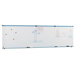 Piste graphique murale sur piétement 60 x 200 cm réglable en hauteur laqué blanc