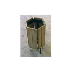 Corbeille Maurepas en bois résineux naturel de traitement 18 kgs