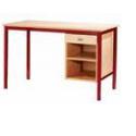 Bureau Pylos avec niche+tiroir avec porte 120x60