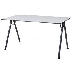 Table piètement dégagement latéral 80 x 80 cm