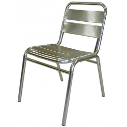 Lot de 4 chaises en finition aluminium anodisé