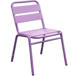 Lot de 4 chaises en finition aluminium anodisé couleur violet 0210