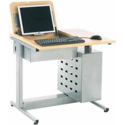 Table informatique avec plateau rabattable