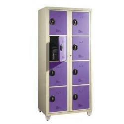 Casier visitable pour le collège - 2 colonnes largeur 90 cm- 8 cases