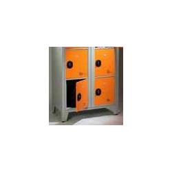 Casier visitable pour le lycéé - 2 colonnes largeur 90 cm - 4 cases