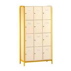 Meuble élèves 12 cases avec porte avec structure latérale