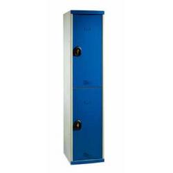 Vestiaire multicasier 1 colonne 4 portes largeur 40 cm