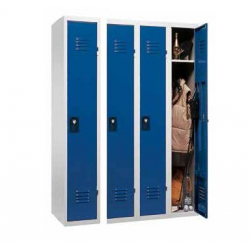 Vestiaire monobloc soudés 4 cases 120 x 50 x180 cm