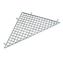 Tablette d'angle L/l 80x80cm électro-zinguée