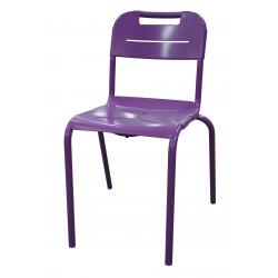 Chaise aluminium 4 pieds EOLIA