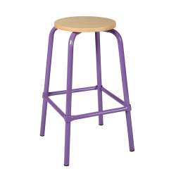 Tabouret assise ronde ht 65 cm
