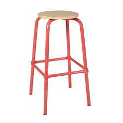 Tabouret assise ronde ht 70 cm