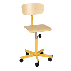 Chaise informatique sur roulettes réglable en hauteur