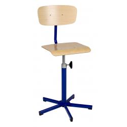 Chaise de laboratoire réglable en hauteur sans barre repose -pieds