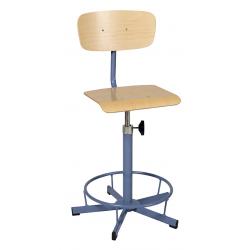 Chaise de laboratoire réglable en hauteur avec barre repose -pieds