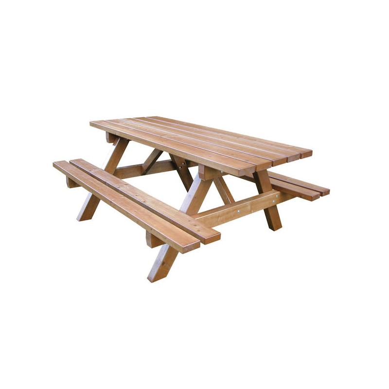 Table jura en bois teint acajou dor millenium for Teinte bois exterieur