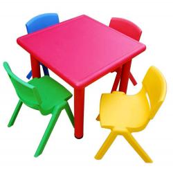 Lot de 1 table 62 x 62 cm + 2 chaises