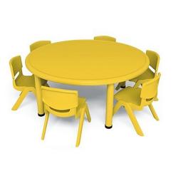 Lot de 1 table Ø 115 cm + 4 chaises