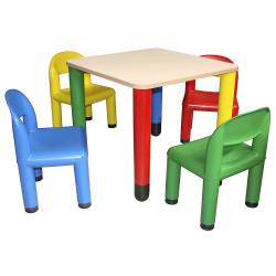 Table plateau coloris ivoire