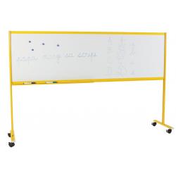 Piste graphique sur piétement 120 x 120 cm réglable en hauteur laqué blanc