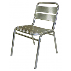 Lot de 2 chaises en finition aluminium anodisé