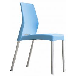 Chaise Jenna - piètement gris aluminium
